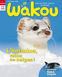 """Couverture du magazine avec ma """"Blanche hermine"""""""