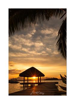 Sunset beach bora bora
