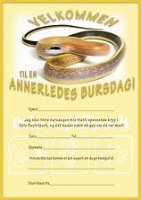 Invitasjon Bursdagsinvitasjon Oslo Reptilpark Gul huleracer