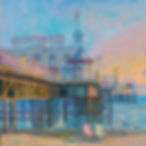 Brighton Pier Paintings, Brighton, beach, pier, Oil on canvas, Juan del Pozo, impressionist sea