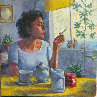 Marta fuma