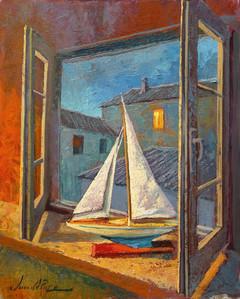 Barco en ventana
