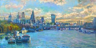 Thames skyline.