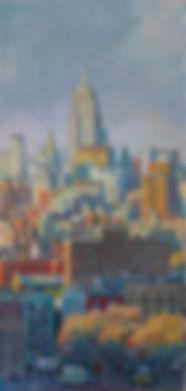Oil on wood 122 x 57 cm