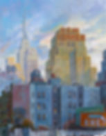 New Yorker, New York paintings, cuadros de nueva york, building paintings, urbanscapes, Juan del Pozo, Empire State building