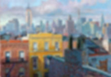 Skyline Manhattan, New York skyline, New York paintings, Juan del Pozo
