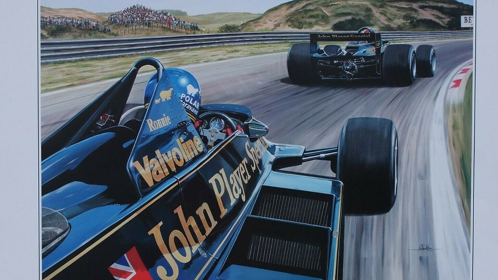 Wingman, Ronnie Peterson, Mario Andretti, World champion, Lotus 79 at Zandvoort