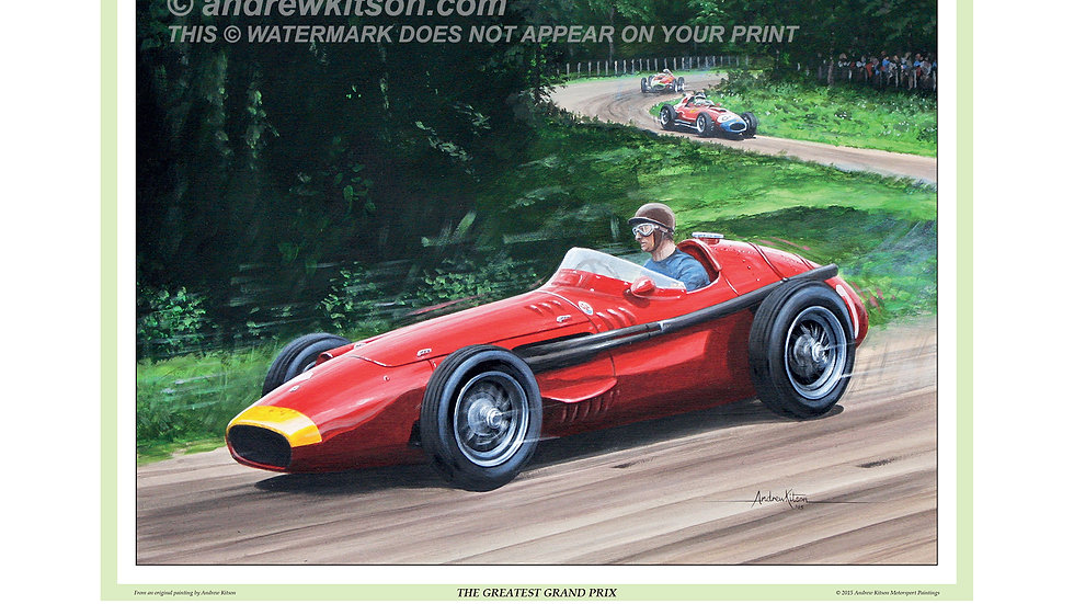 Juan Manuel Fangio winning the 1957 German Grand Prix at the Nürburgring