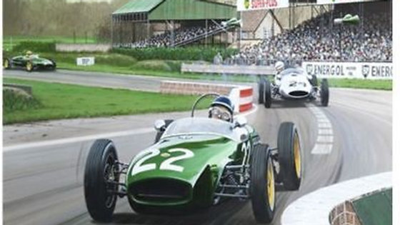 2 Jim Clark new prints Lotus 33, Brands Hatch,& Lotus18 Junior Goodwood