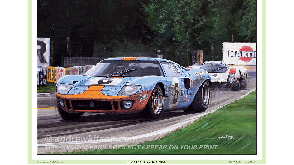 """The 1969 Le Mans 24Hrs-Gulf FordGT40- """" Ickx & Oliver """"Flat out to the finish"""""""
