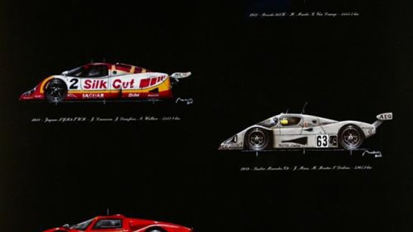 Le Mans  24 Hours Record Breakers Winners Quality Print - limited edition of 180