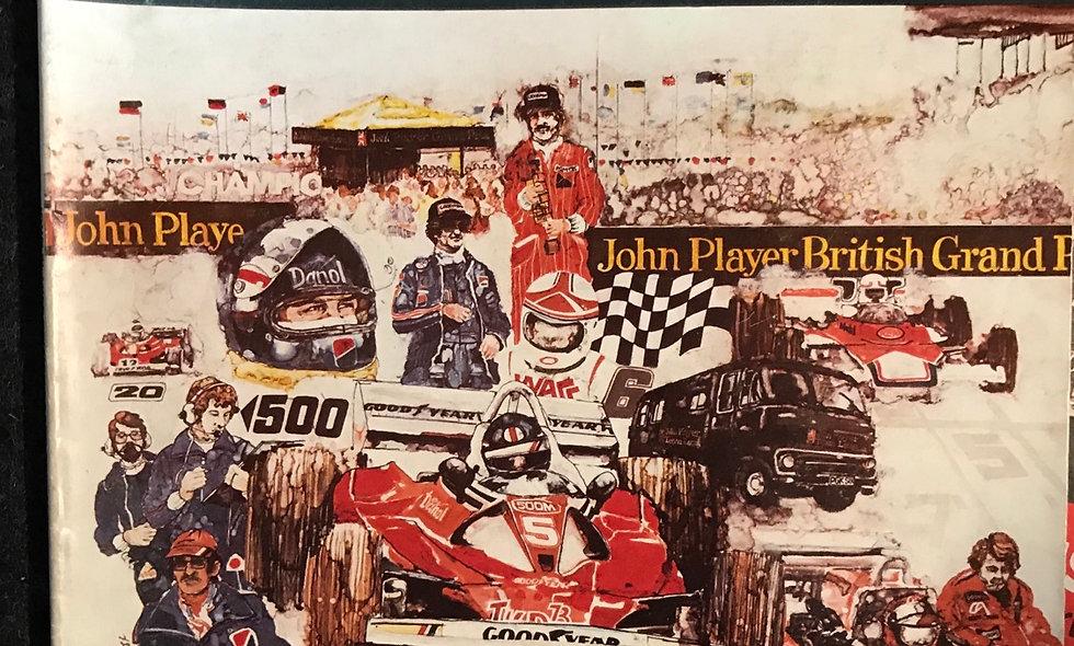 British Grand Prix programme 1978