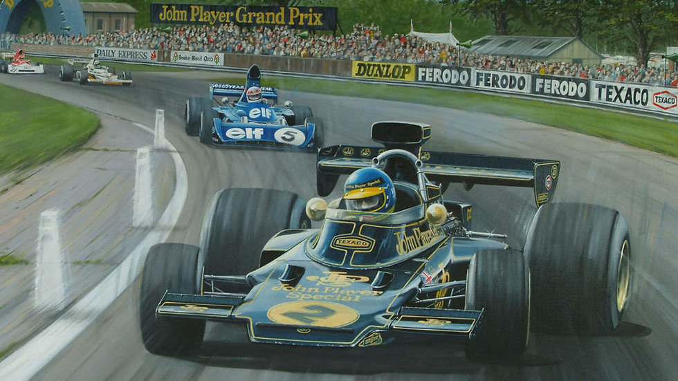 Ronnie Peterson, JPS Lotus72, Jackie Stewart, Woodcote, Silverstone, British GP