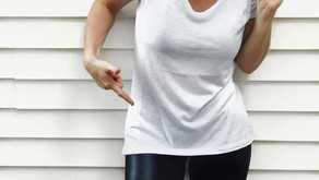 Yep, in my white tee.... and leggings...The ONLY transition staples you need!