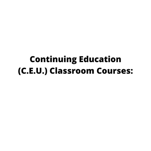 Continuing Education (C.E.U.)