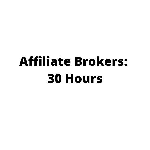 Affiliate Broker: 30 Hour