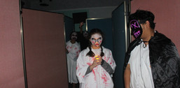 Halloween Face Painting and Haunted House