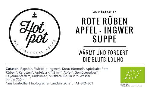 Rote Rüben - Apfel - Ingwer Suppe 720 ml (=2 Portionen)