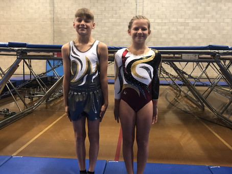 Emilia Motejunatie age 10 and William Gant age 12  Invite for GBR/ENG Trials for Trampoline Gymnasts