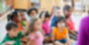children raising their hand