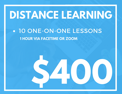 10 Pack of One Hour Distance Learning Tutoring