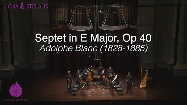 Adolphe Blanc Septet in E Major, Op. 40