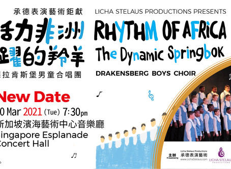 Rhythm of Africa Singapore Rescheduled!