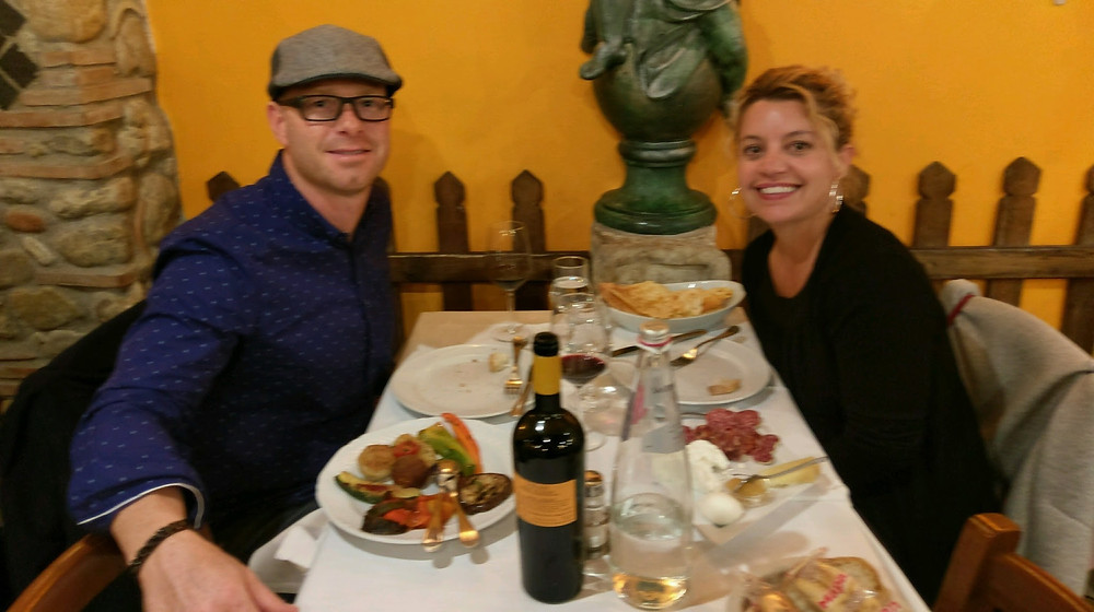 Chris and Kristi in Rome last year!