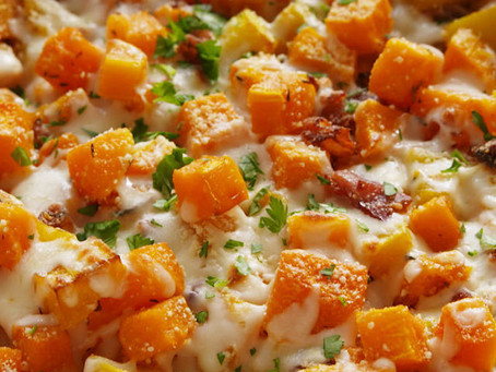 Cheesy Bacon Butternut Squash