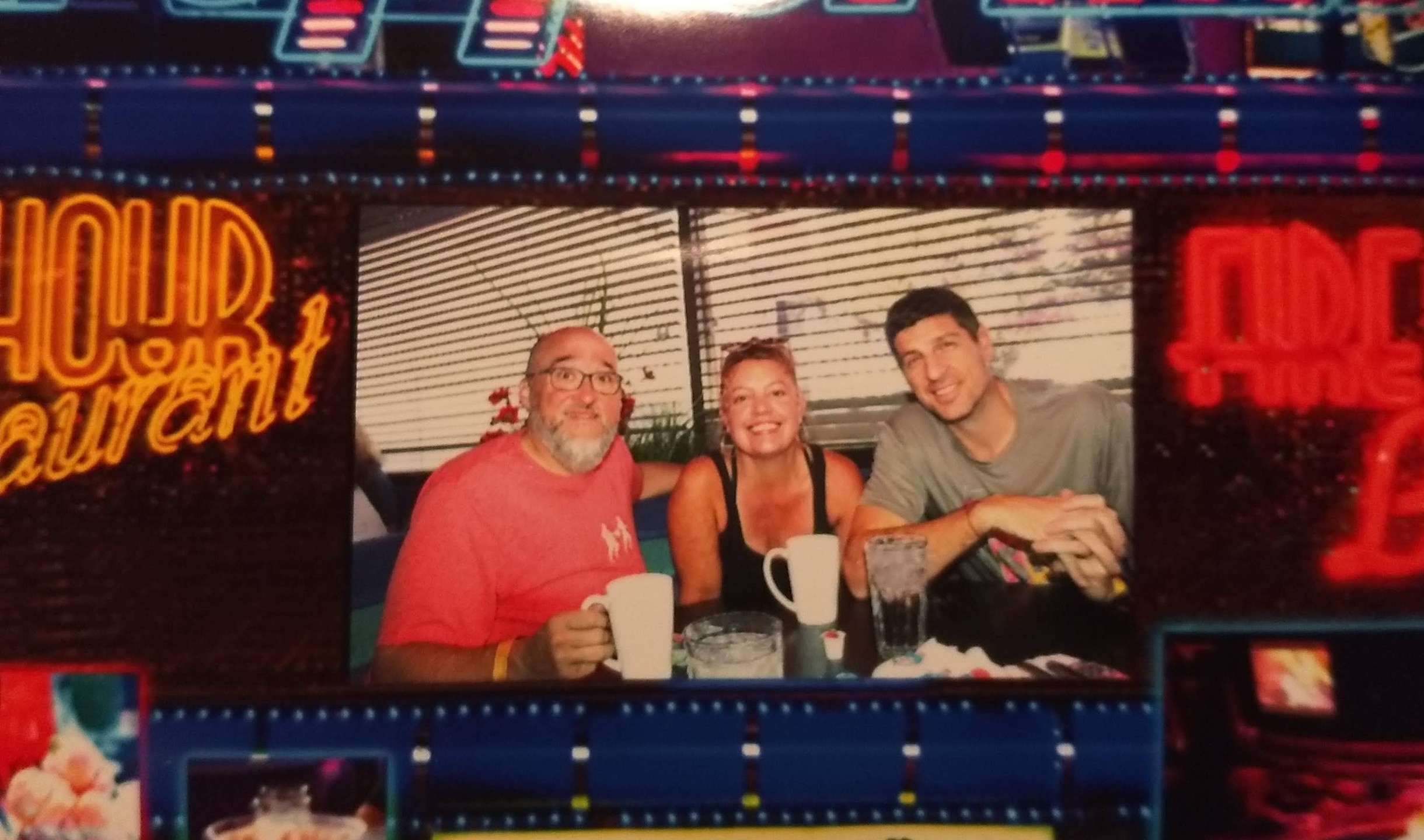 Me, Marcus and Sebastien at breakfast, they take your picture there.