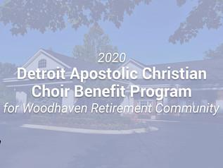 2020 Detroit Apostolic Christian Choir Benefit Program for Woodhaven Retirement Community Video
