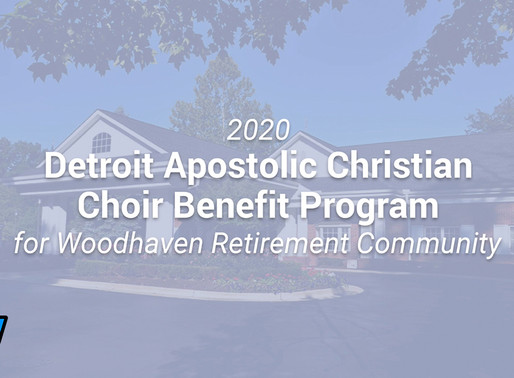 2020 Detroit Apostolic Christian Choir Benefit Program for Woodhaven Retirement Community Video