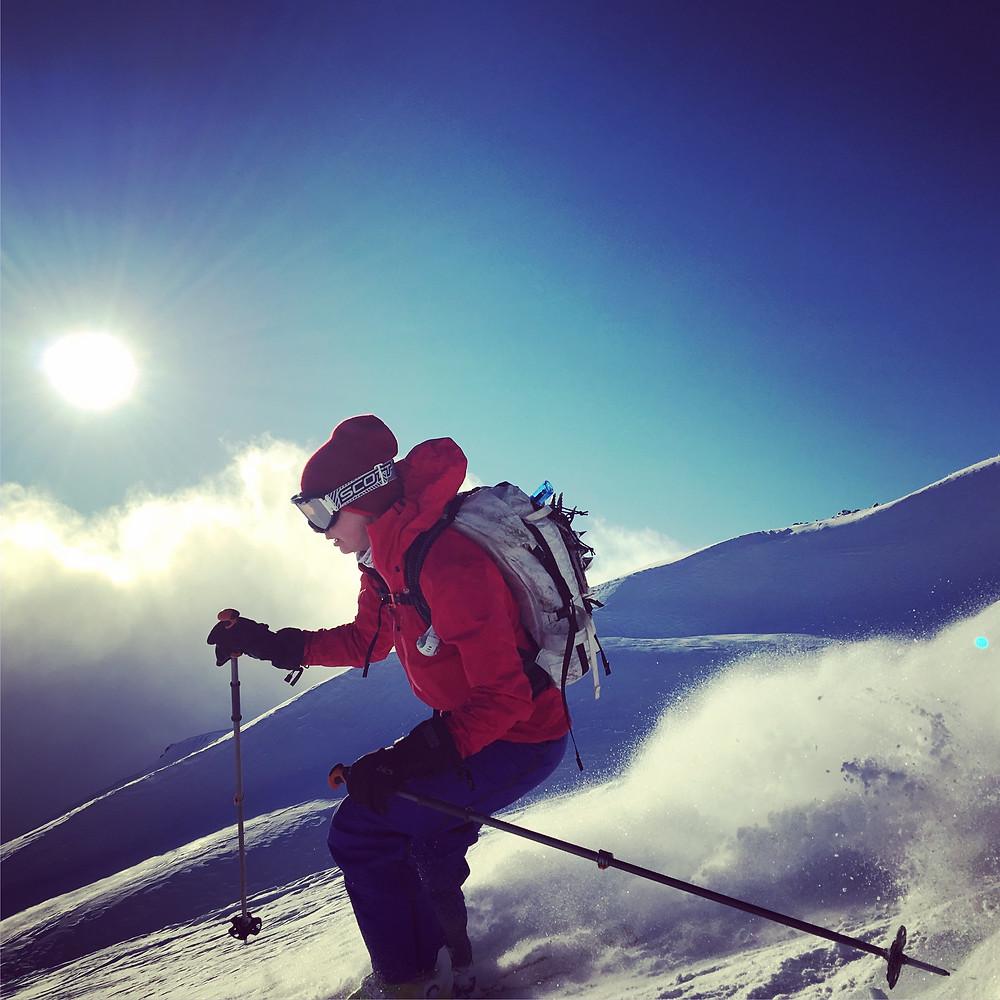 Skiing Mount Saint Helens
