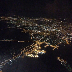 Greece by Night (from the plane!)