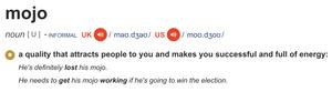 definition of mojo
