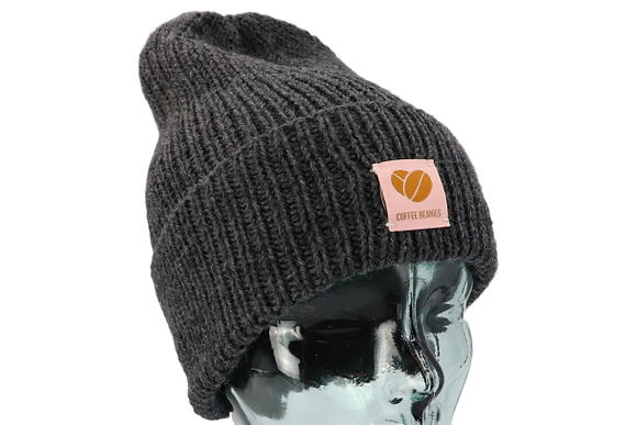 208 The Peace beanie - dark grey