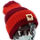 Thumbnail: 214 The Peace beanie stripes - red on red