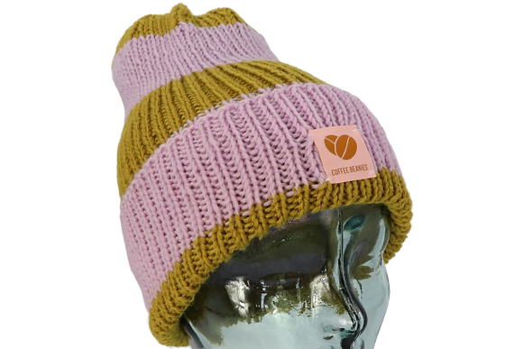 The Peace stripes beanie - lilac/olive