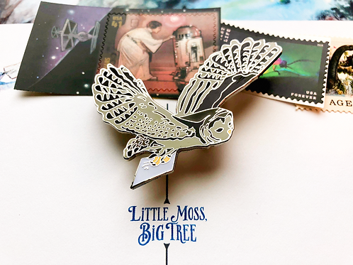Pin - Owl & Postcard