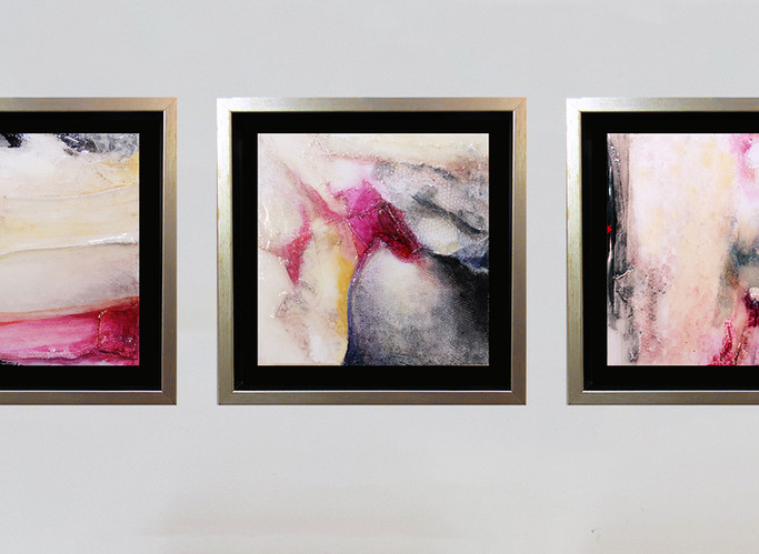 The Three Laces 20, 21, 22, installation view
