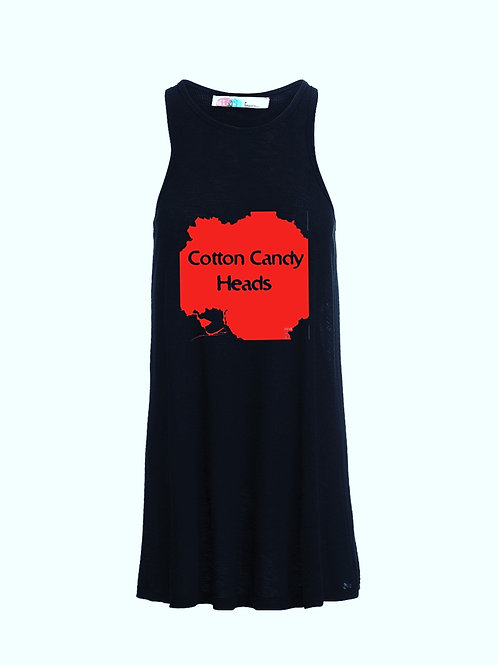 Cotton candy flair tank dress