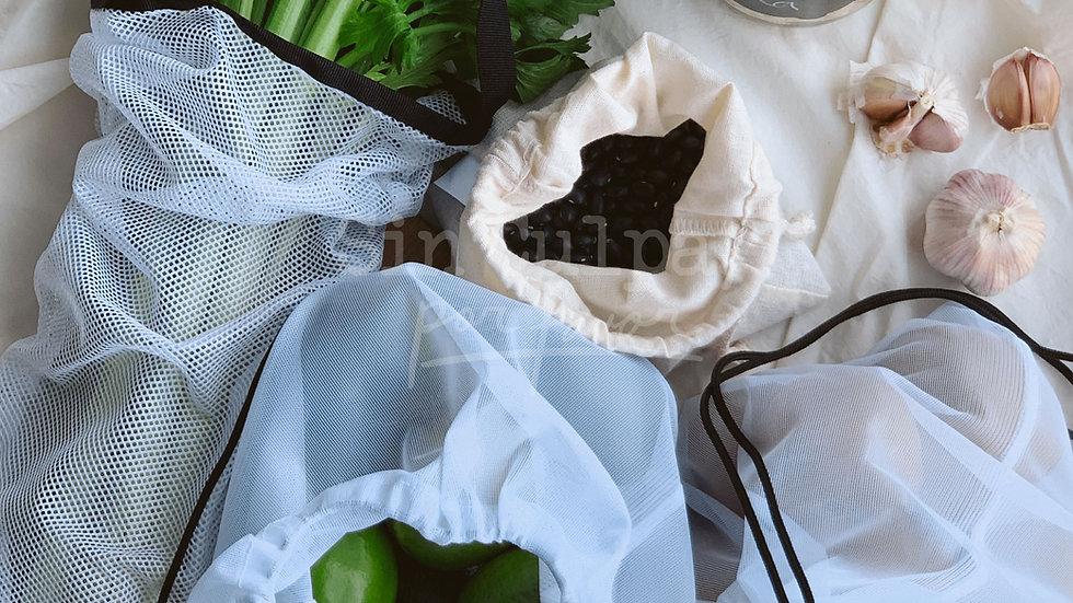 Kit de bolsas REutilizables - CONSCIENTE