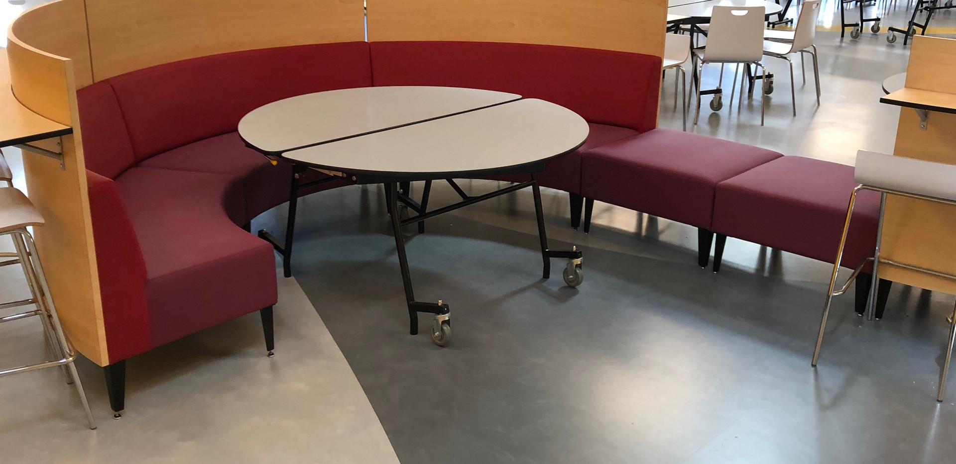 Cafeteria Rubber Flooring