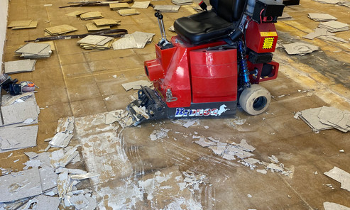VCT Demo on a wood subfloor, No Problem!