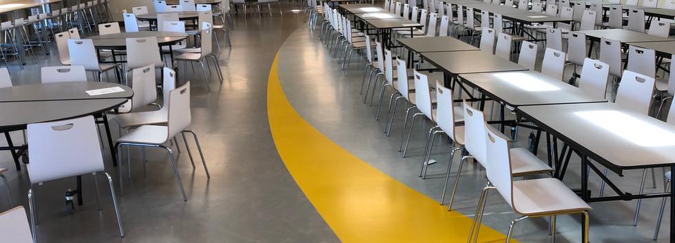 Cafeteria rubber floor