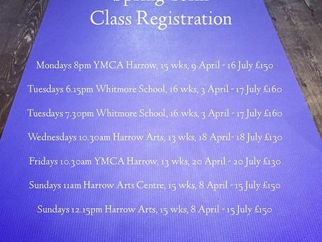 Spring Yoga Class Registration