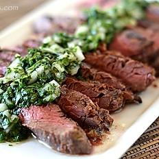 Grilled Skirt Steak w/ Chimichurri