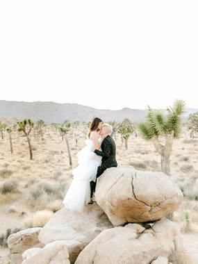 Fashion Forward Same-Sex Elopement |  Joshua Tree, CA
