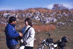タンデム日本縦断ツーリング、山口県の秋吉台