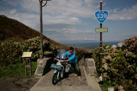 リトルカブ国道全制覇ツーリング、青森県の津軽半島、階段国道